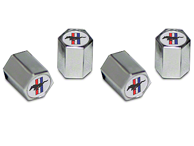 Valve Stem Caps - Tri-Bar Pony Logo