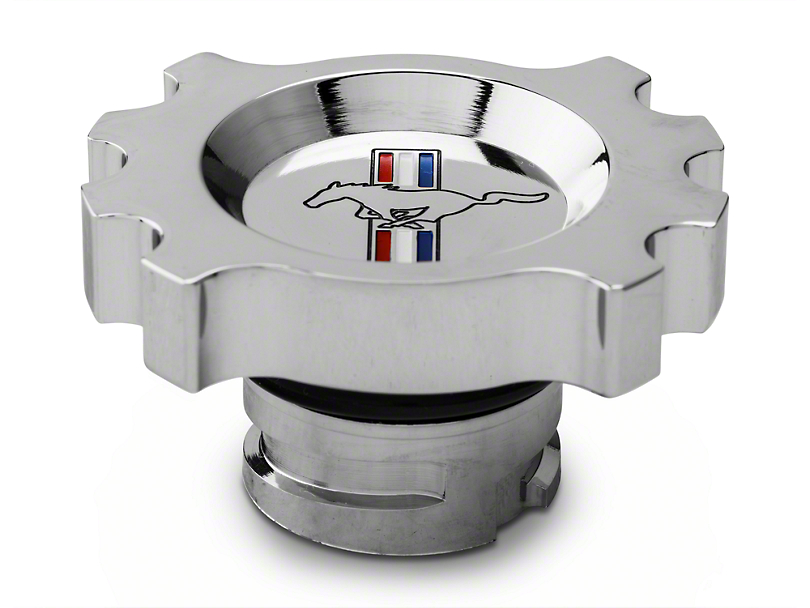 Modern Billet Chrome Oil Cap - Tri-Bar Logo (05-14 GT, V6)