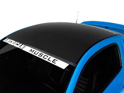 Matte Black Solid Roof Decal (05-14 All)