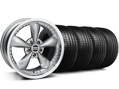 Staggered Bullitt Motorsport Anthracite Wheel & Falken Tire Kit - 18x9/10 (99-04)