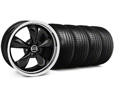 Staggered Bullitt Black Wheel & Falken Tire Kit - 18x9/10 (99-04)