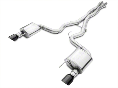Corsa Xtreme 3in Catback Exhaust - Fastback - Black Tips (2015 GT)