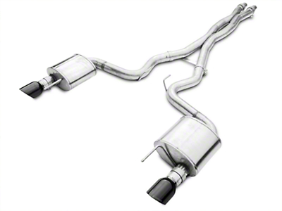 Corsa Xtreme 3in Catback Exhaust - Fastback - Black Tips (15-16 GT)