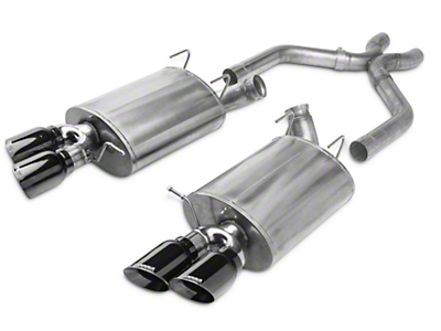 Corsa Sport Axle-Back Exhaust w/ X-Pipe - Black Quad Tips (13-14 GT500)