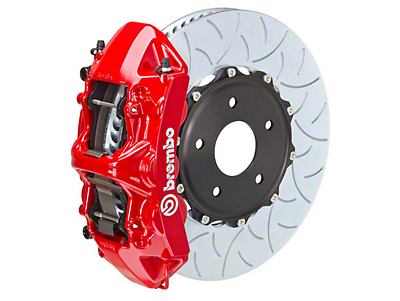 Brembo GT 6-Piston Front Brake Kit Red - 15in Type 3 Slotted Rotors (15-16 ALL)