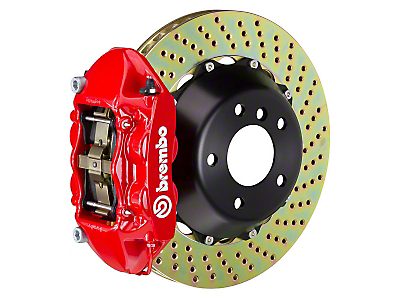 Brembo GT 4-Piston Rear Brake Kit Red - 15in Drilled Rotors (15-17 GT)