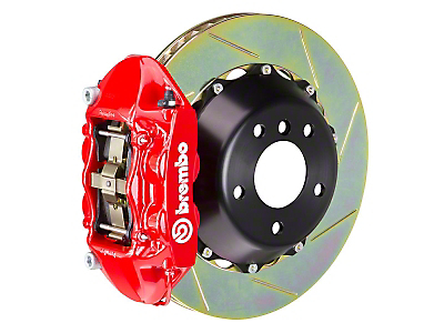 Brembo GT 4-Piston Rear Brake Kit Red - 15in Type 1 Slotted Rotors (15-17 GT)