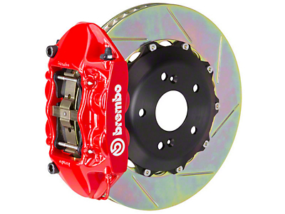 Brembo GT 4-Piston Rear Brake Kit Red - 15in Type 3 Slotted Rotors (15-16 GT)