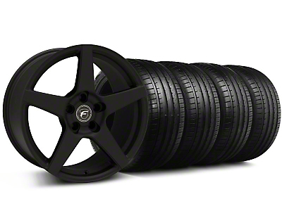 Forgestar Staggered CF5 Monoblock Staggered Textured Black CF5 Monoblock Wheel & Falken Tire Kit - 18x9/10 (99-04)