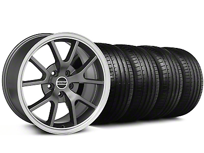 Staggered FR500 Style Anthracite Wheel & Falken Tire Kit - 18x9/10 (99-04)
