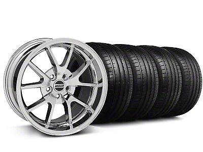 Staggered FR500 Style Chrome Wheel & Falken Tire Kit - 18x9/10 (99-04)