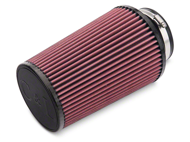 C&L Cold Air Intake Replacement Filter - 4 in. Inlet / 9 in. Length