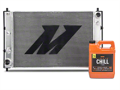 Mishimoto Aluminum Radiator w/ Liquid Chill Pre-Mix Coolant - Manual (97-04 GT, Mach 1; 97-01 Cobra)