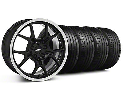 Staggered GT4 Black Wheel & Falken Tire Kit - 18x9/10 (99-04)