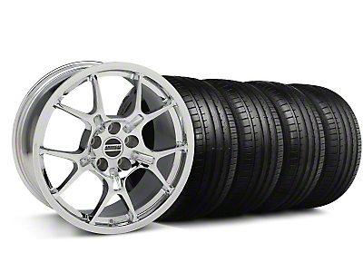 Staggered GT4 Chrome Wheel & Falken Tire Kit - 18x9/10 (99-04)