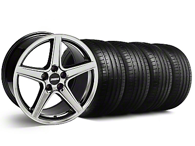 Staggered Saleen Style Black Chrome Wheel & Falken Tire Kit - 18x9/10 (99-04)