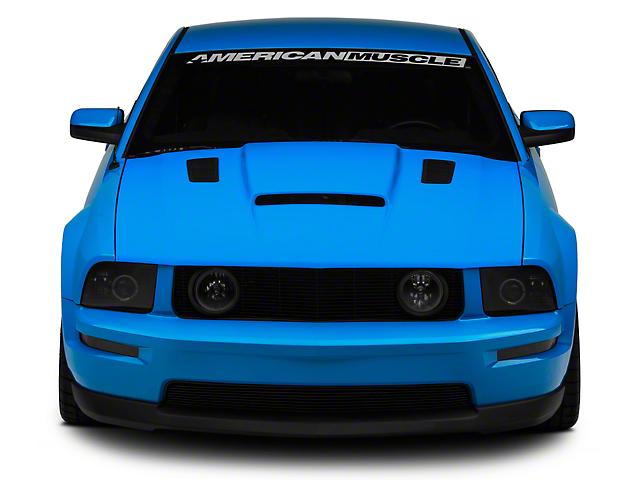 Cervini s Mustang Stalker II Hood w Louvers Unpainted