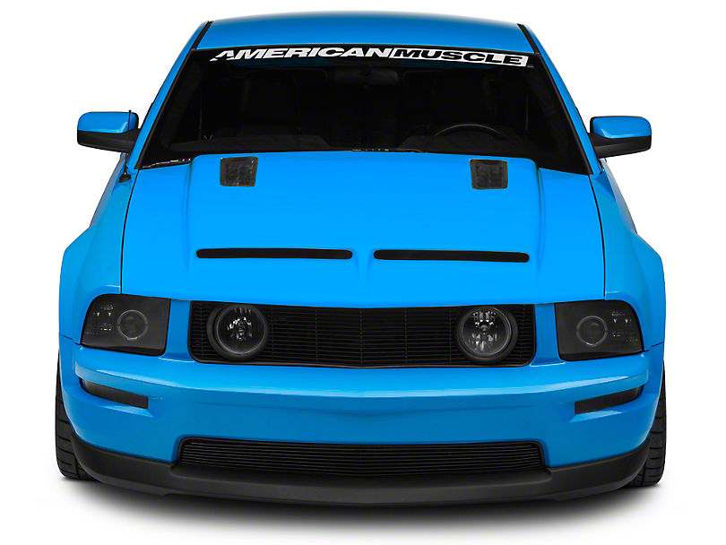 Cervini s Mustang Ram Air Hood with Louvers 1225 05 09 GT