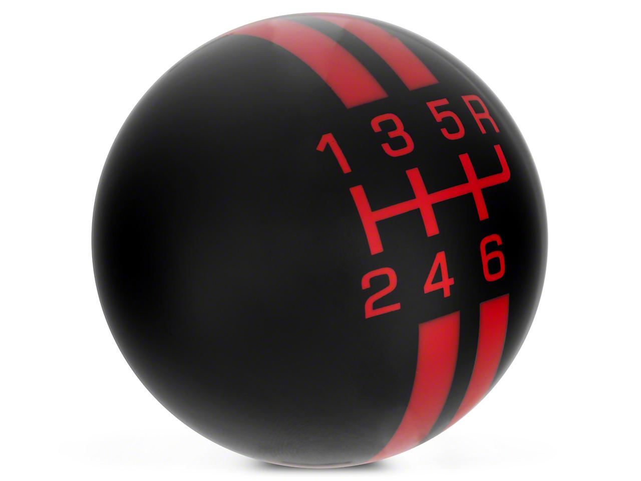 Rally Stripe 6-Speed Shift Knob - Black/Red (10-14 GT500)