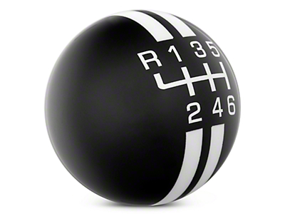 Rally Stripe 6-Speed Shift Knob - Black/White (11-14 GT, V6)