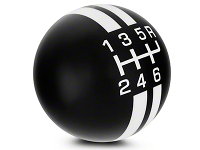 Rally Stripe 6-Speed Shift Knob - Black/White (07-09 GT500)
