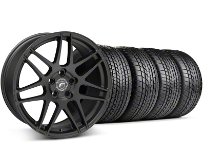 Forgestar Staggered F14 Matte Black Wheel & Sumitomo Tire Kit - 17x9/10.5 (99-04)