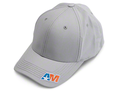 AmericanMuscle Stretch Fit Hat - Gray