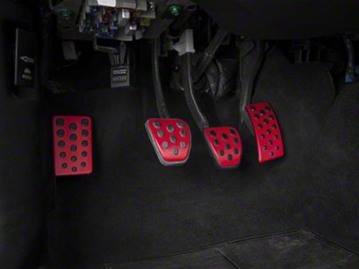 Bullitt Style Pedal Covers - Manual - Red (94-04 All)