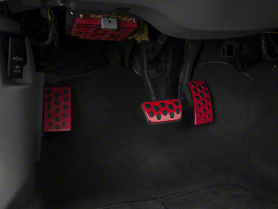 Bullitt Style Pedal Covers - Automatic - Red (94-04 All)