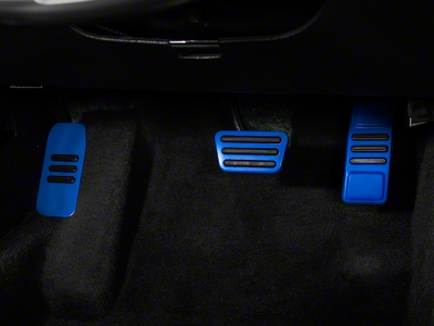 GT500 Style Pedal Covers - Automatic - Blue (05-14 All)
