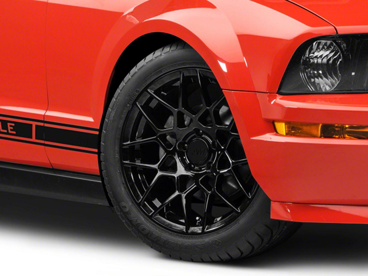 Add 2013 GT500 Style Gloss Black Wheel - 18x9