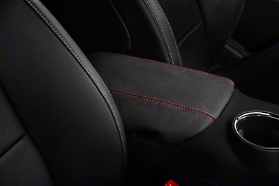 Premium Leather Arm Rest Cover - Red Stitching (15-17 All)