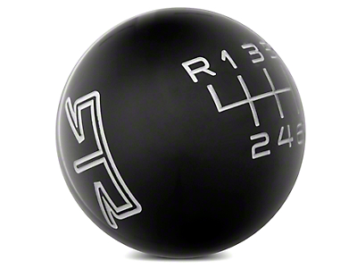 RTR Black Shift Knob - Grey Engraving (15-16 GT, EcoBoost, V6)