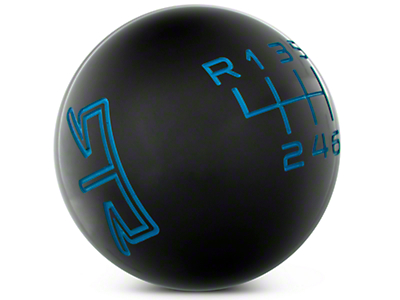 RTR Black Shift Knob - Blue Engraving (15-16 GT, EcoBoost, V6)