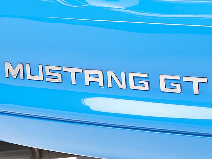 Stainless Steel Bumper Insert Letters (94-98 GT, V6; 94-95 Cobra)
