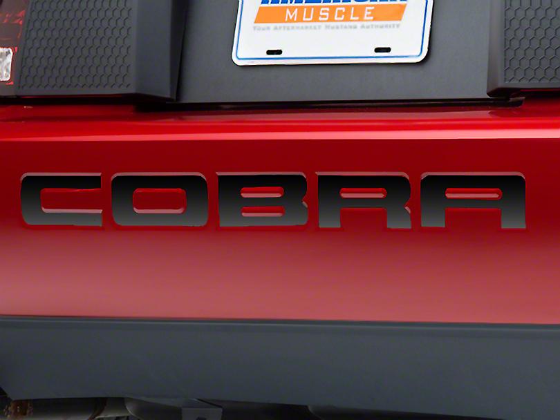 Black Chrome Bumper Insert Letters (96-98 Cobra; 01 Cobra)
