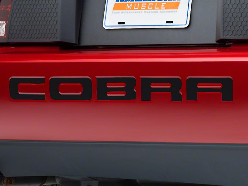 Modern Billet Black Steel Bumper Insert Letters (96-98 Cobra; 01 Cobra)