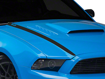Matte Black Hood Accent Decal - 5.0 Lettering (13-14 GT, BOSS)