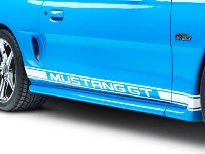 White Rocker Stripes w/ Mustang GT Lettering (94-04 All)