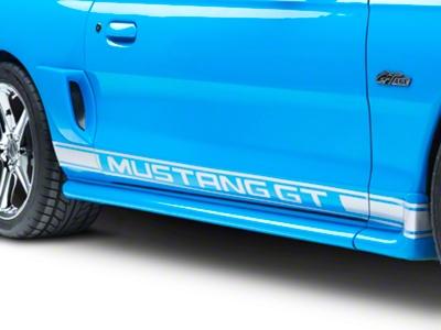 Silver Rocker Stripes w/ Mustang GT Lettering (94-04 All)