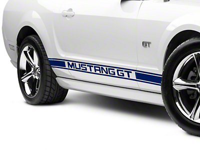 Blue Rocker Stripes w/ Mustang GT Lettering (05-14 All)