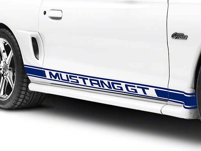 Blue Rocker Stripes w/ Mustang GT Lettering (94-04 All)