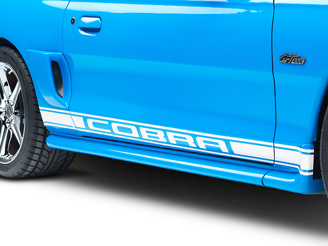 White Rocker Stripes w/ Cobra Lettering (94-04 All)