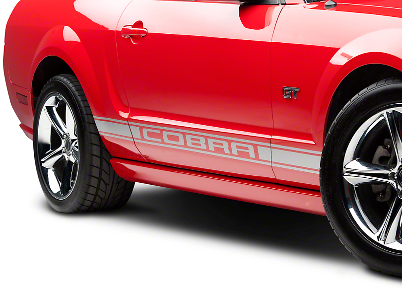 Silver Rocker Stripes w/ Cobra Lettering (05-14 All)