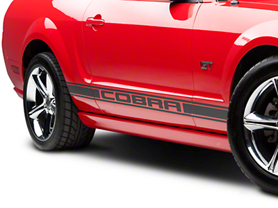 Matte Black Rocker Stripes w/ Cobra Lettering (05-14 All)