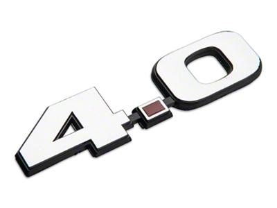 Chrome 4.0L V6 Fender Emblem (05-10 V6)