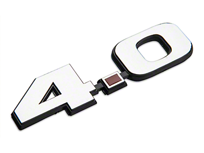 Chrome 4.0L V6 Fender Emblem (05-10 V6)