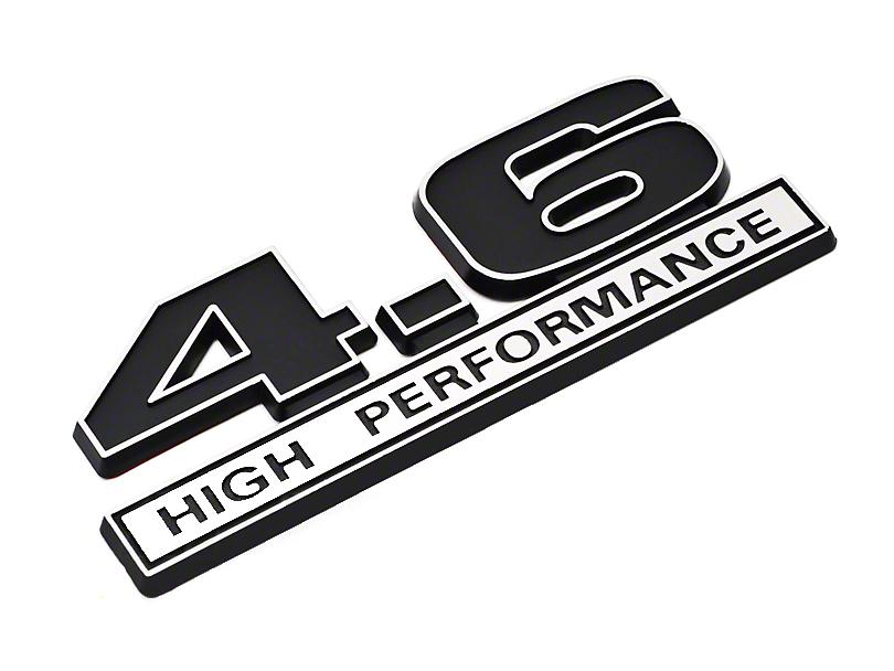 SpeedForm Black 4.6 High Performance Emblem