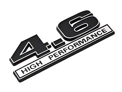 Black 4.6 High Performance Emblem