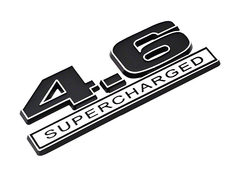 Black 4.6 Supercharged Emblem